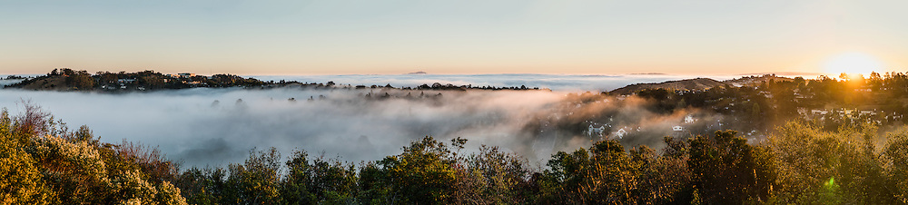 Morning fog in San Mateo at sunrise