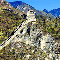 Great Wall of China at Juyongguan from Ming Dynasty in Beijing, China<br /> How did the Ming Dynasty build the Great Wall of China over 5,500 miles and it&rsquo;s still standing after thousands of years and I can&rsquo;t build a retaining wall that lasts five years?  To put the distance into perspective, the U.S. is 3,400 miles at its widest point.  This part of the Great Wall is at Juyongguan, also called Juyong Pass, in Beijing, China.