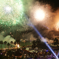 Fireworks at a New Year celebration in Cabo San Lucas, Mexico