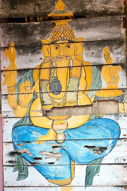 Ganesh shrine by the beach at Udappu.