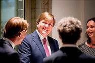 DEN HAAG - 19-4-2017 Koning Willem Alexander opent woensdag 19 april het gebouw B30 aan de Bezuidenhoutseweg 30 in Den Haag.<br /> Met de opening van B30 vormen het Centraal Planbureau, het Planbureau voor de Leefomgeving, het Sociaal en Cultureel Planbureau en de Raad voor de leefomgeving en infrastructuur hier het kenniscentrum voor de Rijksoverheid. Daarnaast is ook de Autoriteit Persoonsgegevens gevestigd in B30. Het gebouw stamt uit het begin van de 20e eeuw en is een rijksmonument. In de afgelopen jaren is het pand gerenoveerd om te gaan dienen als huisvesting voor deze vijf organisaties.COPYRIGHT ROBIN UTRECHT<br /> <br /> THE HAGUE - 19-4-2017 King Willem Alexander opens Wednesday, April 19th, the B30 building at Bezuidenhoutseweg 30 in The Hague.<br /> With the opening of B30 are the CPB, the Netherlands Environmental Assessment Agency, the Social and Cultural Planning Office and the Council for the Environment and Infrastructure for the knowledge of the central government. In addition, the Personal Authority established in B30. The building dates from the early 20th century and is a national monument. In recent years renovated the building to serve as housing for these five organisaties.COPYRIGHT ROBIN UTRECHT