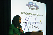l to r: Pamela Alexander. Earl Lucas, and Crystal Worthem at The Freedom's Sisters Luncheon sponsored by Ford Motors at The 2009 Essence Music Festival held at The New Orleans Marriott Convention Center on July 2, 2009 in New Orleans, Louisiana