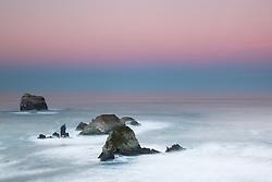 """Dawn at Plaskett Rock 1"" - Photograph of Big Sur's Plaskett Rock at dawn."
