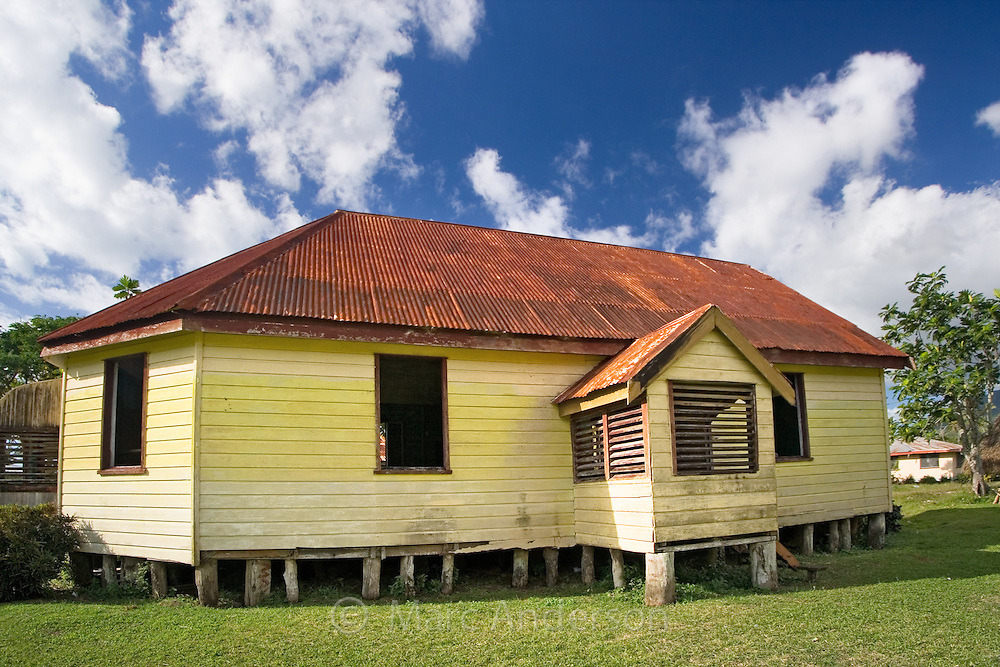 An Old Village Church in Vanua Levu, Fiji..