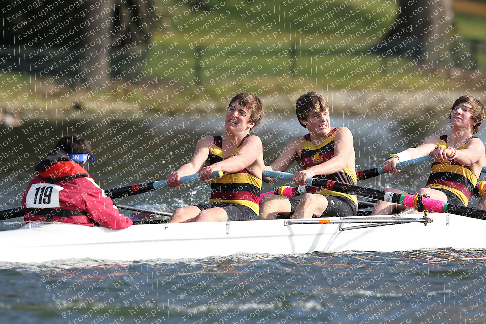 2012.02.25 Reading University Head 2012. The River Thames. Division 1. Shiplake College Boat Club B J15A 8+
