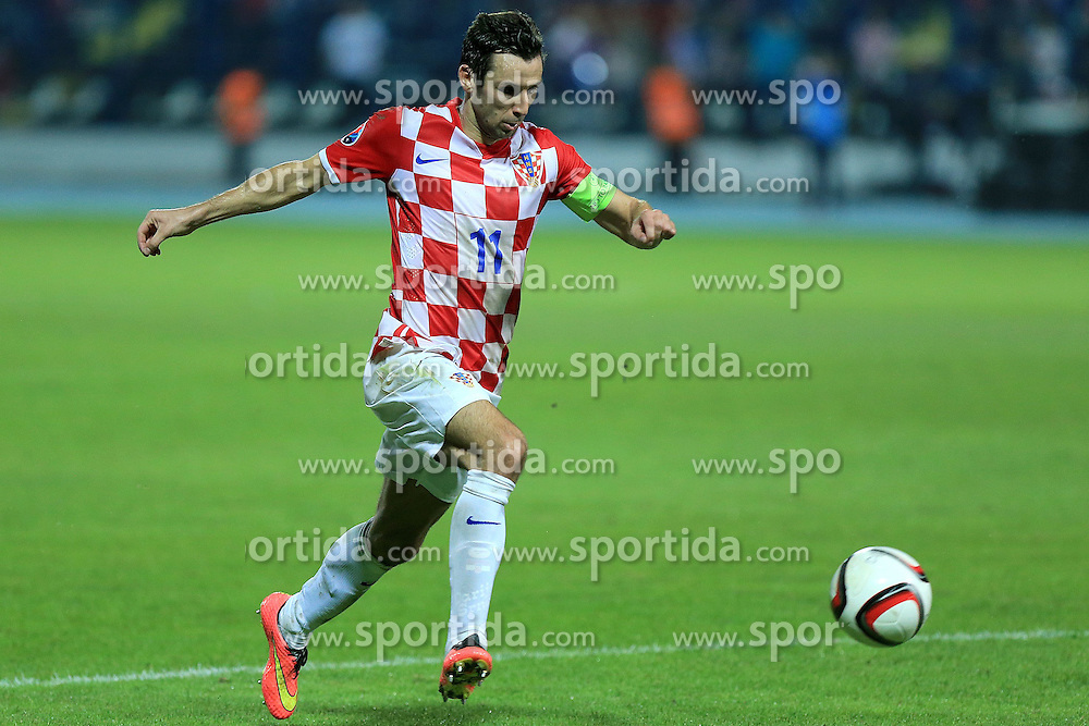 13.10.2014, Stadion Gradski vrt, Osijek, CRO, UEFA Euro Qualifikation, Kroatien vs Aserbaidschan, Gruppe H, im Bild Darijo Srna // during the UEFA EURO 2016 Qualifier group H match between Croatia and Azerbaijan at the Stadion Gradski vrt in Osijek, Croatia on 2014/10/13. EXPA Pictures &copy; 2014, PhotoCredit: EXPA/ Pixsell/ Davor Javorovic<br /> <br /> *****ATTENTION - for AUT, SLO, SUI, SWE, ITA, FRA only*****