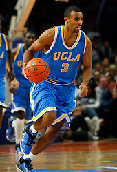 Nov 21, 2008; New York, NY, USA; UCLA Bruins forward Josh Shipp (3) dribbles the ball after a steal during second half action of the 2K Sports Classic consolation game at Madison Square Garden. UCLA defeated Southern Illinois 77-60.