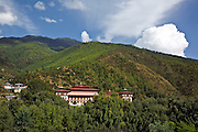 BU00021-00...BHUTAN - Government buildings in the capital city in Thimphu.