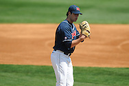 Ole Miss' Austin Wright (22) pitches against Alabama at Oxford-University Stadium in Oxford, Miss. on Sunday, March 20, 2011. Alabama won 6-4.