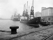 'Brilliant' Coal Boat departure from Alexandra Basin <br /> 02/12/1958