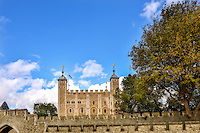 London, UK  England - October 3, 2012: Tower of London, formerly a Royal residence, to a zoo and prison now is a tourist attraction in the city.