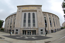 Aug 8, 2013; New York, NY, USA; Atmosphere shot outside of Yankee Stadium. Two outdoor regular-season NHL games will be played at Yankee Stadium during the 2013-14 season as part of the 2014 Stadium Series.