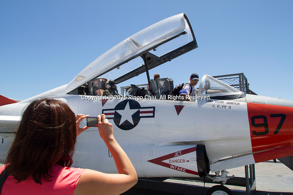 Tourist visit the USS Midway aircraft carrier museum in San Diego, California. (Photo by Ringo Chiu/PHOTOFORMULA.com)