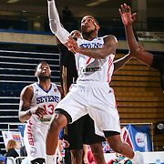 Delaware 87ers Guard DAVON USHER (7) drives towards the basket for a lay up in the first half of a NBA D-league regular season basketball game between the Delaware 87ers and the Erie BayHawks Tuesday, Mar. 29, 2016, at The Bob Carpenter Sports Convocation Center in Newark, DEL.