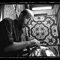 Cairo, Egypt  June 2008<br /> Alaa, 42 years old, dressmaker.<br /> Photo: Ezequiel Scagnetti