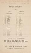 26.10.1941 Munster Minor Hurling Final, held at Croke Park, Dublin, Ireland.