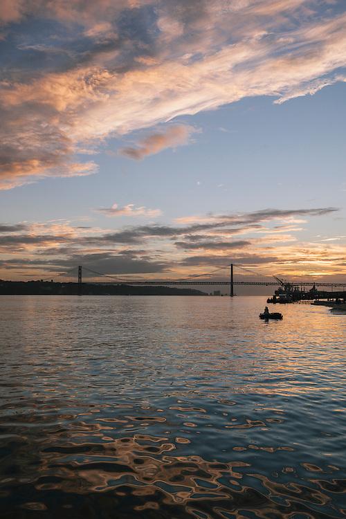Tagus river and the Ponte 25 de Abril, Lisbon