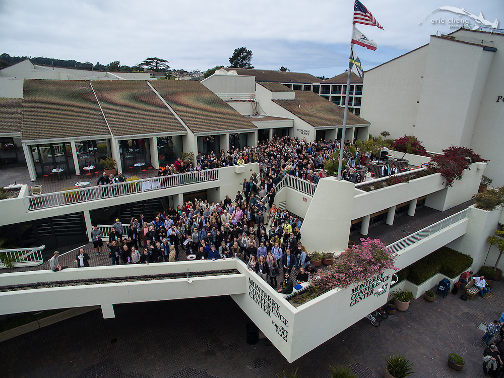 Aerial group shot of the Monterey Conference Center during e.g. 9, 2015