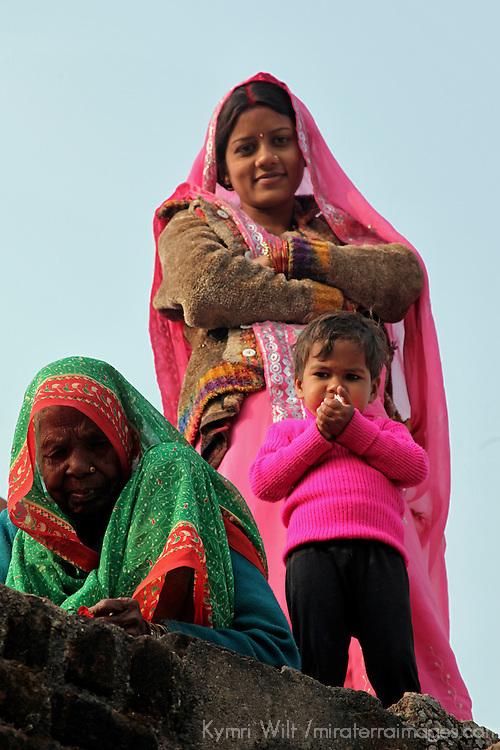 Asia, India, Khajuraho. Local villagers in Khajuraho, India.