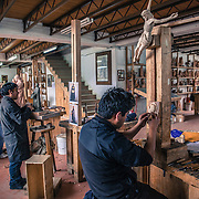 Il laboratorio del legno dell'OMG a Chacas Chacas, Ancash, Peru. A group of brave Italian volunteers of the no-profit Italian movement OMG, Operazione Mato Grosso, together with their spiritual leader Father Ugo De Censi, fight against poverty and misery in the villages of the Peruvian Andes since 1967, helping these poor people with their hard work. They gave everything for them, they dedicated their life to them, without never asking anything in return. A great life adventure, based on compassion and love.