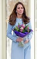 19-1-2015 - LONDON  The Duchess of Cambridge , Kate visits Kensington Aldridge Academy in Londen . COPYRIGHT ROBIN UTRECHT
