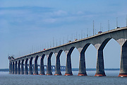Confederation Bridge, connecting Prince Edward Island with New Brunswick; Maritime Provinces, Canada.