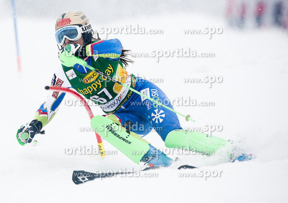 PLUT Eli of Slovenia competes during 1st Run of 50th Golden Fox Audi Alpine FIS Ski World Cup Ladies Slalom, on February 2, 2014 in Podkoren, Kranjska Gora, Slovenia. (Photo By Matic Klansek Velej / Sportida.com)