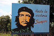 Che on the south coast road from Santiago de Cuba to Pilon.
