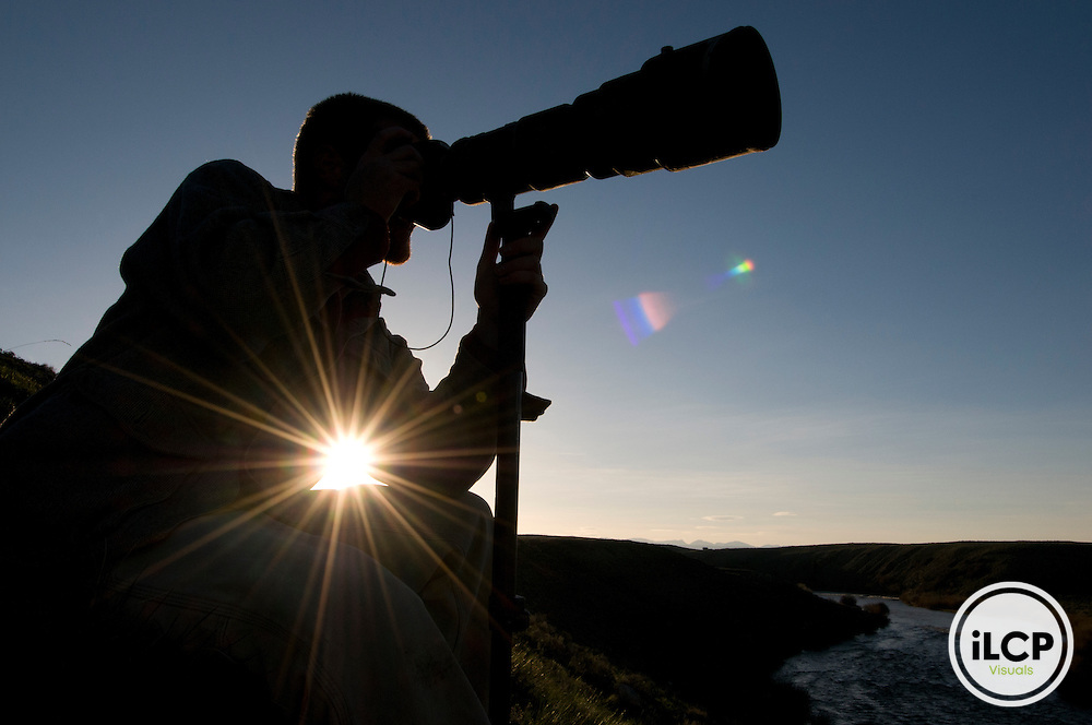 iLCP photographer Joe Riis photographs pronghorn antelope near the Green River.