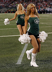 Sept 3, 2009; East Rutherford, NJ, USA;  Members of the NY Jets Flight team perform during the first half of the Jets-Eagles game at Giants Stadium.