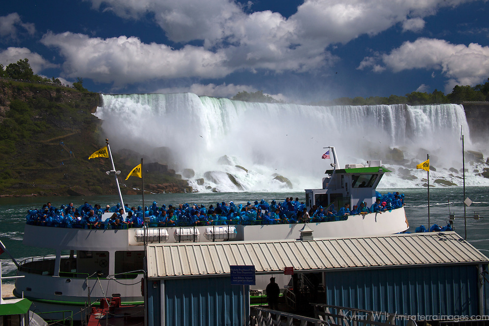 Canada, Ontario, Niagara Falls. Maid of the Mist at pier.