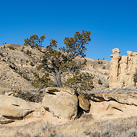 Rugged canyon in Bighorn Basin of Wyoming