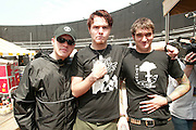 New Found Glory backstage at the K-Rock Dysfunctional Family Picnic at Jones Beach Theater in New York on June 8, 2002. Photo by Scott Gries/PictureGroup