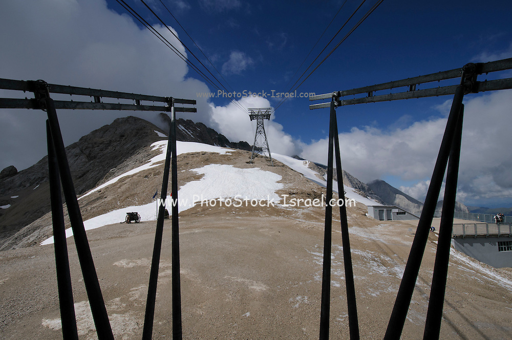 Mount Marmolada in northeastern Italy. The highest mountain of the Dolomites The Cable car