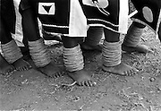 """IPLM0008 , South Africa, Venda, June 2001. Young """"maidens"""" take part in the Domba dance. The domba is part of an initiation process, some already have children though traditionally they are meant to be virgins."""