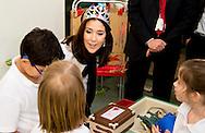 3-3- 2016  DOHA QATAR - Crownprincess Mary Visit the Qatar Academy Hereafter, the Crown Princess will meet two different classes.  Crownprincess Mary and Crownprince Frederik during a 2 day business visit to Qatar . COPYRIGHT ROBIN UTRECHT<br /> Kroonprinses Mary en kroonprins Fredrik uit denemarken tijdens een twee daags handelsmissie bezoek aan qatar