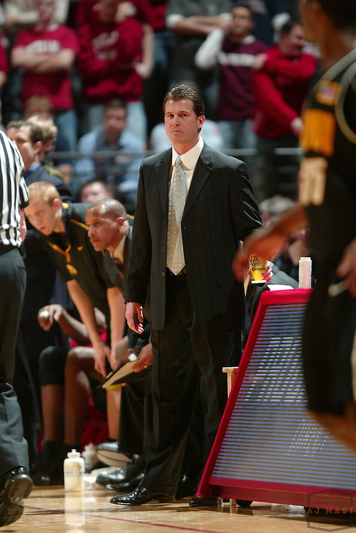 16 January 2007: Iowa head coach Steve Alford as the Indiana Hoosiers played the Iowa Hawkeye's in a college basketball game in Bloomington, Ind. Indiana won 71-64.