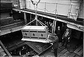 1962 - Loading Sunbeam Jerseywear  onto ship at B and I North Wall, Dublin
