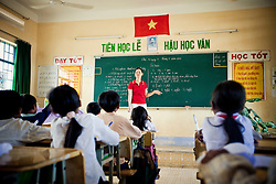 Concentrated pupils in a classroom, Cam Ranh, Vietnam, Southeast Asia