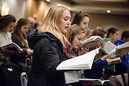 Shannon Brooke Peters sings during worship on Friday, Jan. 27, 2017, in Arlington, Va. LCMS Communications/Erik M. Lunsford