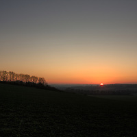Hampshire sunset in January