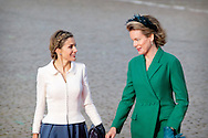 11-11-2014 - BELGIUM - BRUSSEL King and Queen of Spain King Felipe VI and Queen Letizia visit one day Belgium and meet Queen Mathilde and king philip of Belgium. COPYRIGHT ROBIN UTRECHT