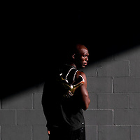 6/12/12 6:27:05 PM -- Bradenton, FL. -- Olympian LaShawn Merritt, who competes in the 400 meters, poses for a portrait at the IMG Performance Institute in Bradenton, Florida. ...Photo by Chip J Litherland, Freelance.