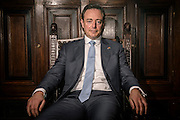 Bart De Wever,  Mayor of Antwerp and the president of the New Flemish Alliance (N-VA) at his office in Antwerp, Belgium on 17.02.2016 by Wiktor Dabkowski