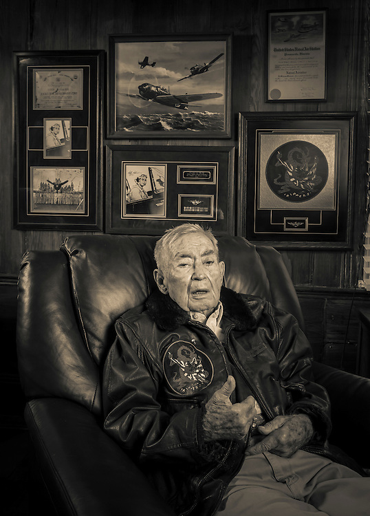 A Delta Captain for 32 years, he flew in WWII and Korea as a naval aviator.  Confirmed Ace...