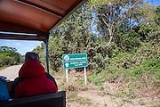Sign, Porto Jofre, Transpantanal Highway, Pantanal, Brazil, South America.