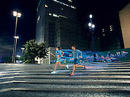 Sao Paulo, Brasil - January 15 of 2015: Track & Field sportswear - Winter 2015 . photo: CAIO GUATELLI