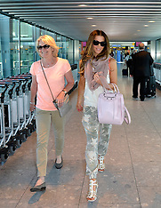 JUL 03 2014 Kate Beckinsale and with her mother at Heathrow
