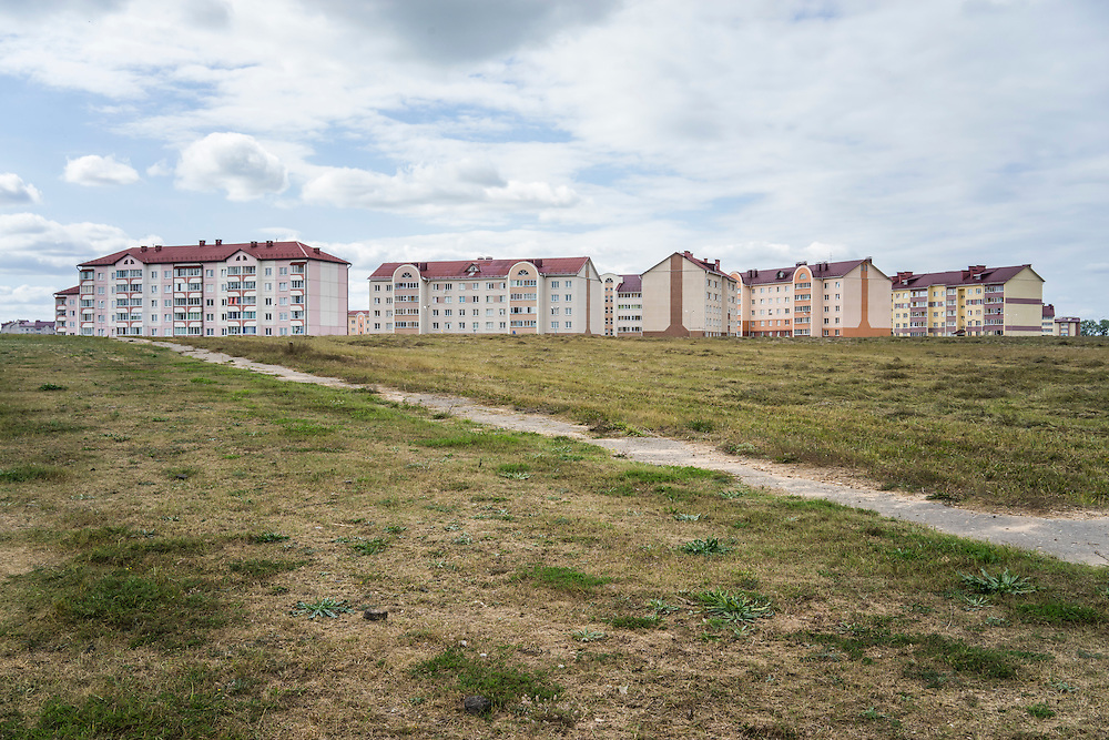 New apartment blocks on Friday, September 16, 2016 in Stolbtsy, Belarus.