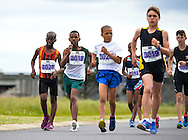 CAPE TOWN, SOUTH AFRICA - OCTOBER 08: Durando Aweries of Athletics SWD (3018) in the sub youth boys 3km during the ASA 50km and Interprovincial Race Walking Championships at Youngsfield Military base on October 08, 2016 in Cape Town, South Africa. (Photo by Roger Sedres/Gallo Images)